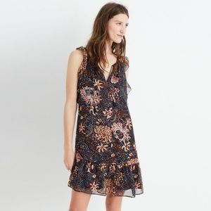 Madewell lily ruffle dress in Sea floral small